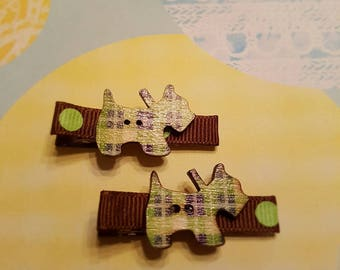 Baby Hair Bows, Baby Hair Clips, Hair Clips For Baby,  Toddler Girl, Infant Hair Clips Doggy Collection - Terrier Clip