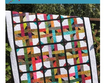 Jelly Roll  Quilt Pattern -  Star Jam Quilt Pattern - Sizes Throw- Twin - Queen / King - Confident Beginner - PDF INSTANT DOWNLOAD