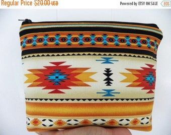 Tribal Cosmetic Bag/accessory Pouch-Southwestern