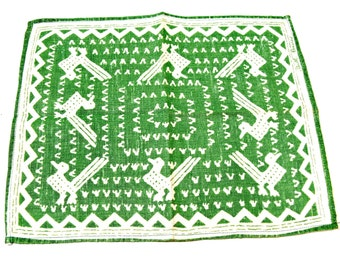 Rare Textile Art by Ruth Reeves - 4 Linen Napkins - 1930s Guatemalan Design - Collectible Art Deco