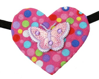 Heart Eye Patch Pink Butterfly Shimmer Steampunk Fantasy Fashion Girly Bright