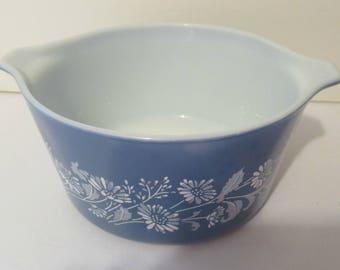 Pyrex Blue Colonial Mist 1 qt. Casserole Baking Dish