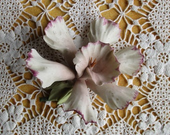Vintage Porcelain Flower, Handcrafted Flower, Mother's Day Gift