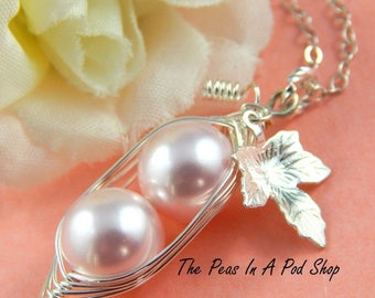 Mothers Day Sale Peas In A Pod, Two peas in a pod necklace,  Precious Girls, For Brides, Friends, Sisters And Mothers