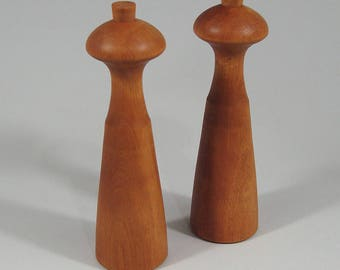 Dan Droz for Lauffer cherry wood salt shakers, priced individually