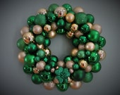 ST. PATRICK'S Day Wreath Ornament Wreath with Shamrock Green and Gold