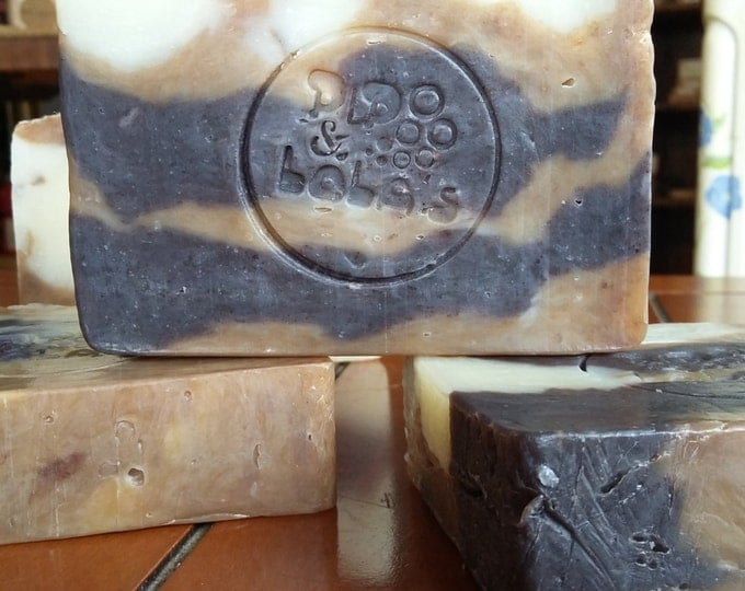Khia's Favorite Old Hippy Soap (Lavender Patchouli) --All Natural Soap, Handmade Soap, Barely Scented, Hot Process Soap, Vegan Soap