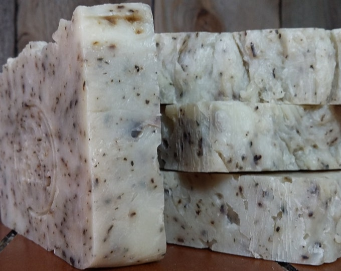 Compass Rosemary Spearmint Soap -- All Natural Soap, Handmade Soap, Barely Scented Soap, Hot Process Soap, Vegan Soap, Best Seller