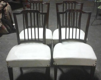 1940'S MAHOGANY LEATHER CHAIRS
