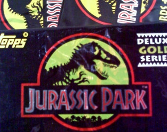 Jurassic Park Deluxe Gold Series Trading Cards