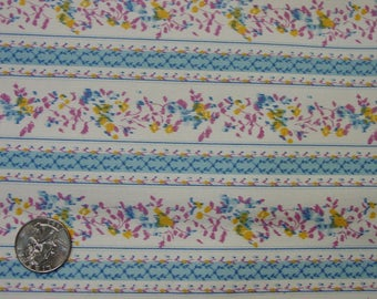 Lovely Vintage Ticking Fabric Pillowcase, Unused Blue,Lavender 19 x 28 1/2""