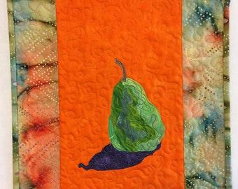 Art Quilt, Batik Fabric, Applique Quilt, Handmade, Gift for Her, Wall Hanging, Home Decor, Christmas Gift 2016, Contemporary Artwork, Art