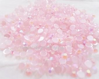 RESTOCKED 200pcs - 4mm Light Pink AB Jelly Flatback Rhinestones AJ30004