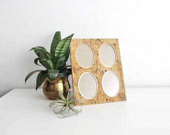 Vintage Cork and Brass Frame // Multi-Photo // 4 Picture Frame