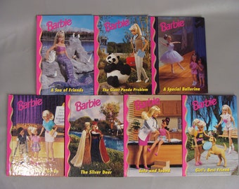 7 Barbie Books. 1998 Barbie and Friends Book. Barbie Chapter Books Set. Barbie Party Favors. Barbie Theme Gift. 90s Barbie Doll. Stacie. Ken