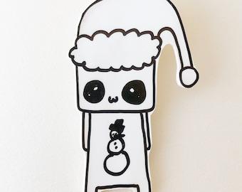 Santa Monster Shrink Plastic Brooch