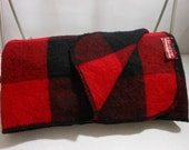 Wool MARLBORO Buffalo Check Blanket Throw Special Price Use/Cutter