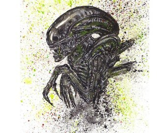 "Alien 8.5x11 Art Print ""I Admire It's Purity"""