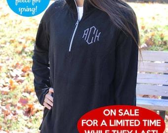 Closeout Sale while they last! Monogrammed Fleece Pullover - Fleece Half Zip Jacket - Women's Microfleece - Lightweight fleece pullover