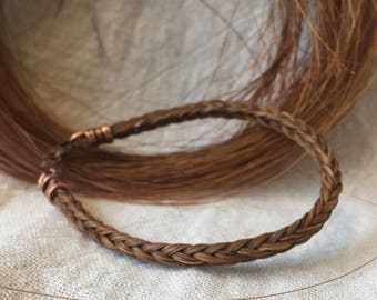 Handmade Braided Horsehair Bracelet with Square Braid
