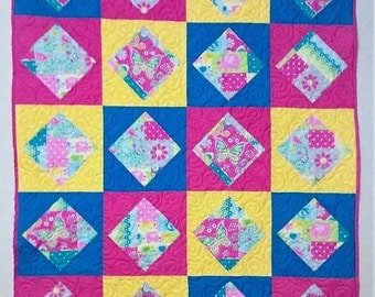 Hot Colors Baby Quilt