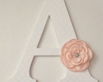Wooden letters for nursery in white