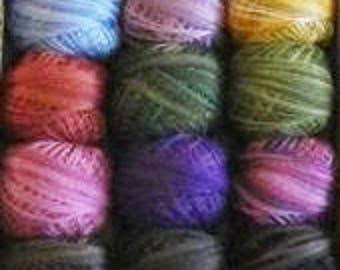 Baskets! Valdani Thread Pack ONLY Nashville Market 2017 Rosewood Manor cross stitch embroidery floss