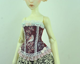 Wings of Valentine BJD Art Line Corset for Cerisedolls Classic MSD Doll