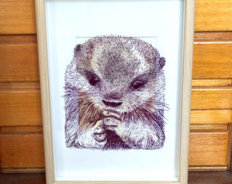 Hand Drawn Otter- original