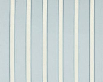 Custom Blue Stripe Shower Curtain Bathroom Curtain Unlined Stripe Shower Curtain Blue Shower Curtain