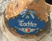 Vintage Dutch Daughter Wood Sign