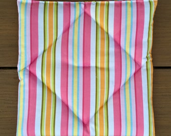 Pooch Pad American Girl doll pets: pink, white and green stripes