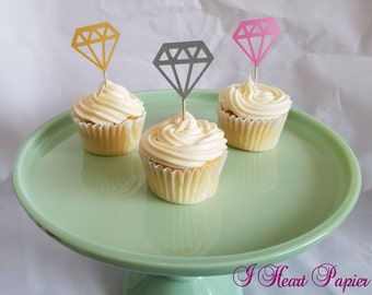 Diamond Cupcake Toppers