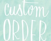 custom initials and date