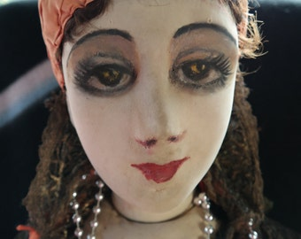 Rare original Gypsy Fortune-teller from 1925-1930 Boudoir doll