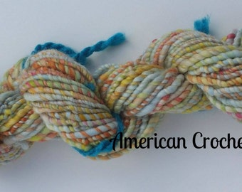 Blue Chicken Feathers / handspun yarn / 2 ply / 47 yards