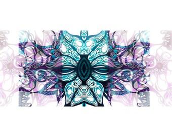 Flames Print. Art Print. Botanical. Abstract. Wall Art. Colourful Print. Floral Art.