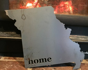 Choose your state or country Metal Steel Cutout Sign