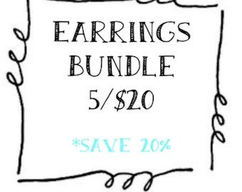 Save 20% - Buy 4, get one FREE - Lightweight Filigree Earrings - Ultra Chic - Great for Bridesmaids or Family Pictures (Buy 4 Get one FREE)
