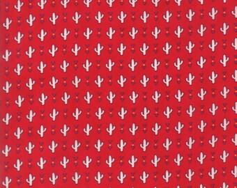 Spellbound Desert Cacti in Scarlet Red,  Urban Chiks, 100% Cotton, Moda Fabrics, 31112 11
