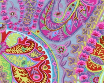 Fabric by the Yard -Paisley Jungle in Grey--Kaffe Fassett for Westminster