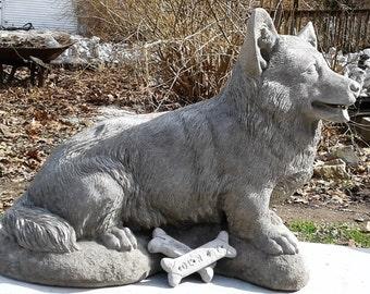 Life Sized Corgi - Concrete Statue