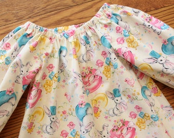 Sale - Girl's Infants Toddlers Vintage Inspired Easter Peasant Dress - Size 3T
