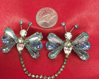 Vintage Butterfly Set Of Brooches