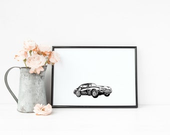 "Aston Martin DB3 Car | 8"" x 10"" Illustration 