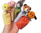 Caramel Teddy BEAR Finger Puppet