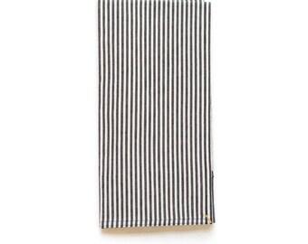 Black Broad Stripe Shop Towel