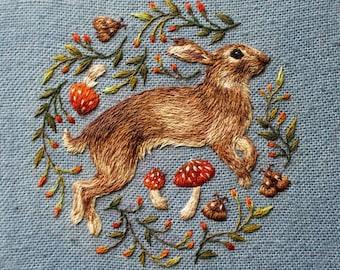 Jumping Rabbit Greetings Card