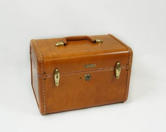 Samsonite cosmetic case, Samsonite suitcase luggage, Vintage train case, Small suitcase carry on with key