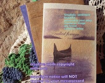 called forever ...rainbow bridge / simplistic/canine/feline/ storybook / choose another image /sentimental /unique condolence /pet sympathy